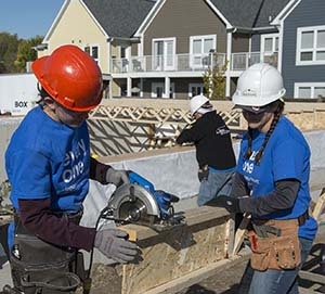 Habitat for Humanity women's build, October 2018