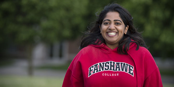 Photo of Fanshawe student