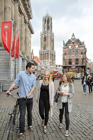 Students in Utrecht, Netherlands