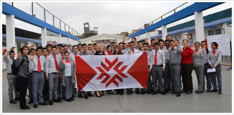 Photo of Fanshawe team at Instituto de Educacion Superior Techologico Publico de las Fuerzas Armadas, Peru
