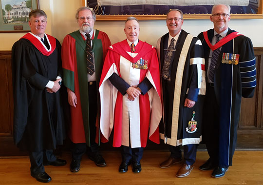 Fanshawe President Peter Devlin receives an honorary degree