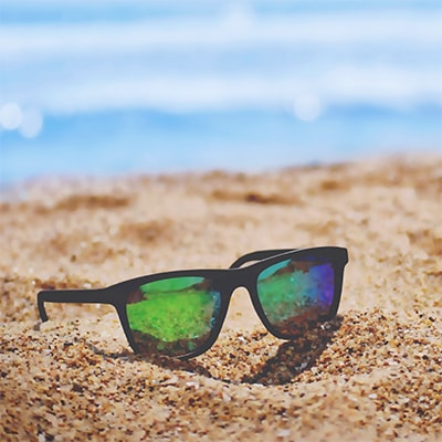 Sunglasses on the beach image