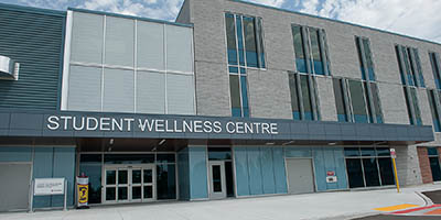 Photo of Student Wellness Centre outside signage