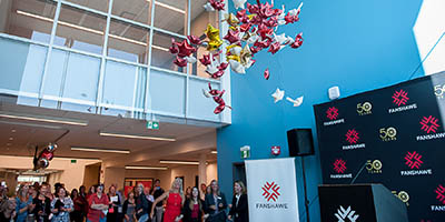 Photo from the grand opening of the Student Wellness Centre in September 2017